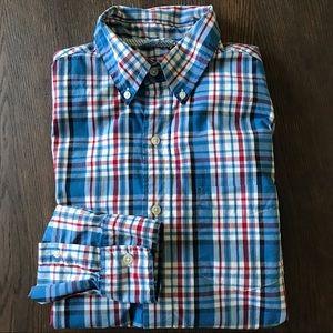 2/$30 Mens Chaps L/S Plaid Button Down Shirt Small